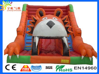 Guangzhou super hot lion king animal inflatable water slide for kids and adults