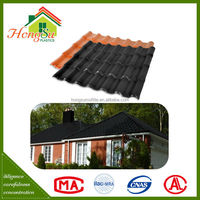 synthetic resin sound insulation blue spanish style roof tile