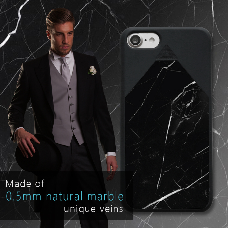 Cellphone case Mobile cover Real natrual marble protector shatter unique veins protectors thinnest case for iphone 7