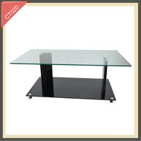 Living Room Furniture square european glass hotel coffee table