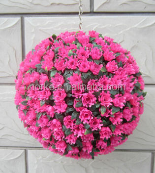 Decorative Artificial Flower Ball 30CM Pink Rose Ball
