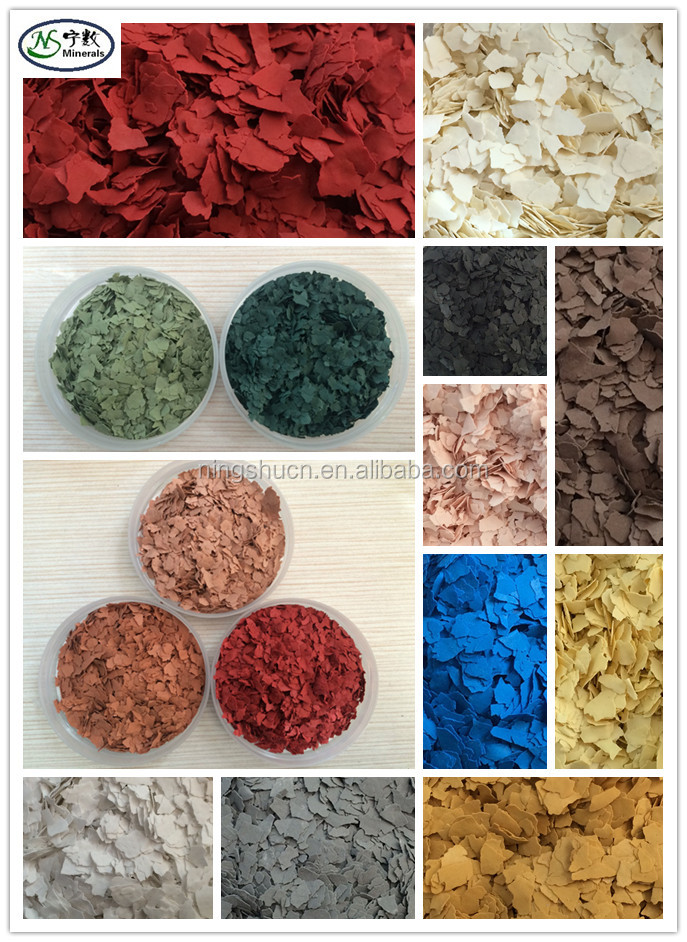 Decorative Epoxy Floor Paint Color Rock Flakes Chips for Garage Epoxy Flooring & Outdoor Decorative Paint