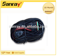 Sanray head light silicone Rubber wire harness right & left LED light wiring harness for motorcycle Automotive use