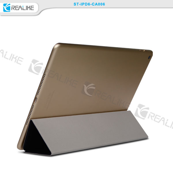 New arrival 3 fold magnetic slim pu leather smart stand case tablet pc for ipad air 2