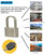 Customized hot sale security cylinder padlock with key
