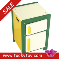 Mini play popular kitchen wooden mini fridges