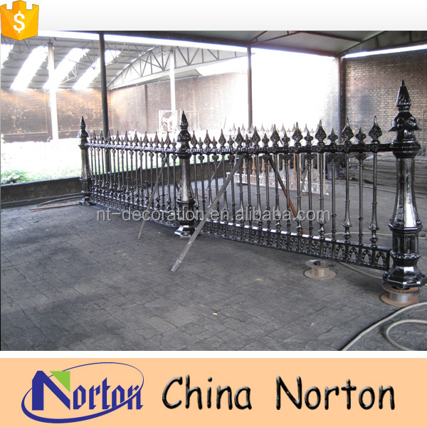 Wholesale cheap home used wrought iron fence NTIG-211A