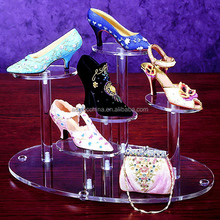 Popular PMMA/lucite all types of shoe racks wholesale
