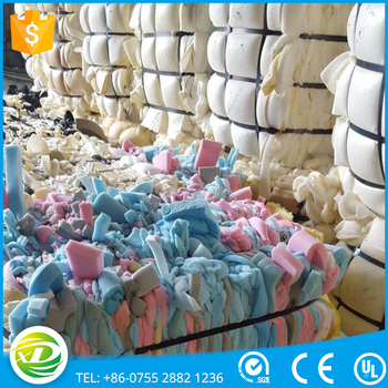 2017 shenzhen cheap pu scrap foam or waste sponge mixed color for sale