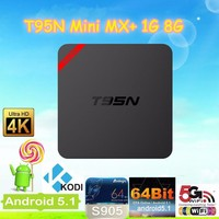 T95N Mini MX+ New arrival Quad Core Amlogic S905 With Android5.1 System