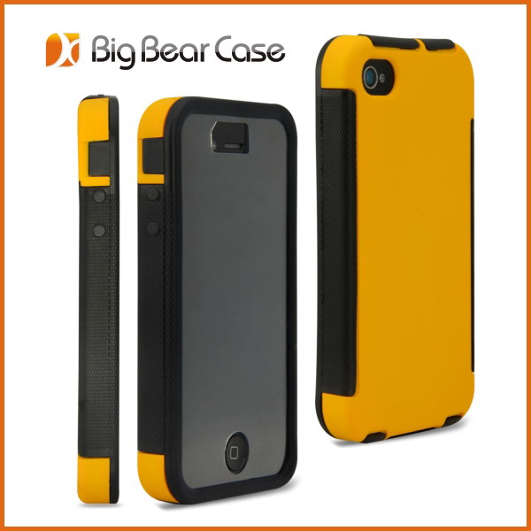 Shockproof with screen hybrid cover for iphone 4 case