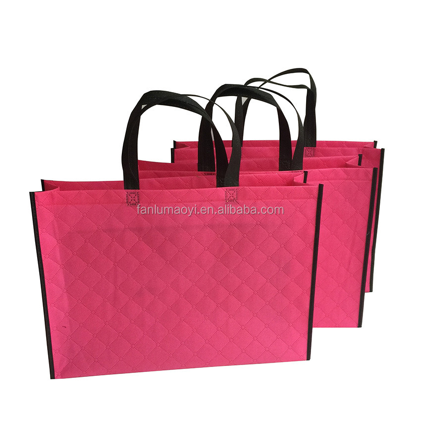 Stock Private Label Non-woven Fabrics Clothes Gift Shopping Bag