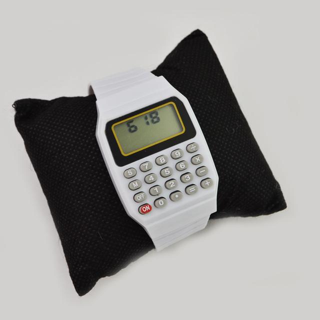 Fashion plastic band watch LCD digital watch with calculator watch