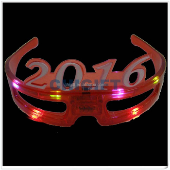 Custom Acrylic Charms LED Sunglasses 2016