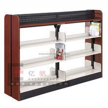 disassemblied double sided book shelf solid wood bookshelf