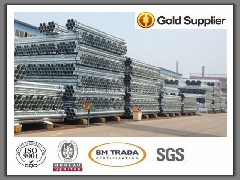 ANSI A213-2001 galvanized Rectangular Steel Pipes for building materials