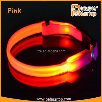 Hot The Royal series TZ-PET2110 custom size glowing led collar