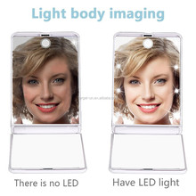 Portable Touch Sensor LED Makeup Mirror with 8 LED Brightness Adjustable Lights