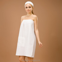 sexy women dress white waffle sleepwear robe bathrob