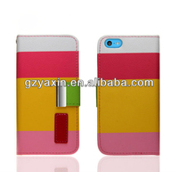 Mobile Phone Case Card Holder Wallet For Iphone5C/Wallet Case Cell Phone Case For Iphone5C/Card Case With Mobile Phone