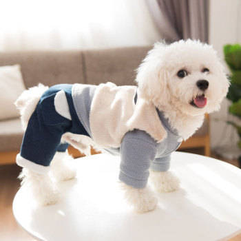 S52692A    Pet four-legged cotton clothing small dog warm thick clothing