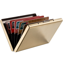 Wedacrafts RFID Gold Credit Card case,stainless steel card holder