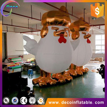 hot sale high quality cool inflatable white chicken for advertising