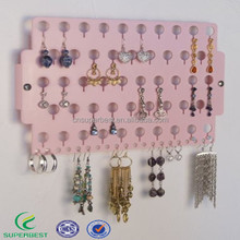 Clear acrylic wall mount Earring Holder Rack Hanging Jewelry Organizer Display
