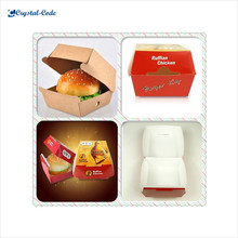 China fashionable large quantity wax coated paper food box,paper box food