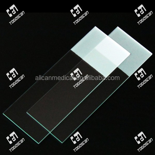 Medical disposable frosted one side end one side microscope slides with cut edges/90