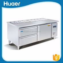 Good quality Hotel and restaurant kitchen salad bar display freezer Kitchen equipment refrigerated salad bar