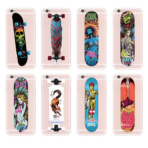 TOMOCOMO Fashion Skateboard Skate Santa Cruz Soft TPU Transparent Phone Cases Cover For iPhone 5 6 6Plus 7 7Plus 8 8Plus X
