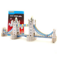 3D wooden Puzzle building toy London Tower Bridge made in China