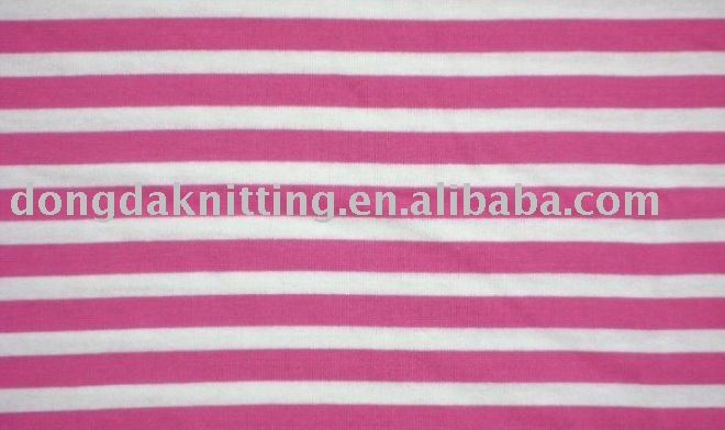 21s 190gsm 100% combed cotton stripe jersey