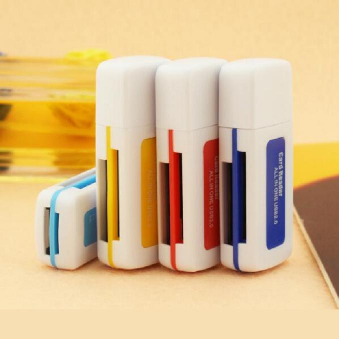 2016 New High Speed Mini USB 2.0 Micro SD TF T-Flash Memory Card Reader Adapter