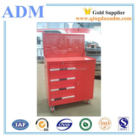 Metal Movable Tool Drawer Cabinet Box with Peg Board