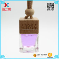 5ml hanging car perfume bottle with wooden cap
