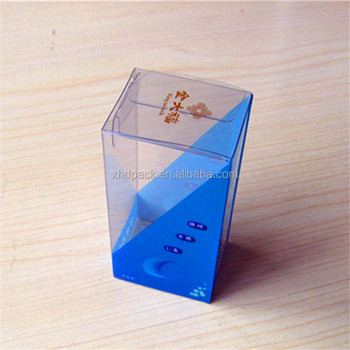 Printed transparent PVC PET packing box display box