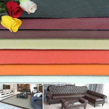 Free sample lychee pattern pvc synthetic leather for sofa upholstery bag shoes from Alibaba China
