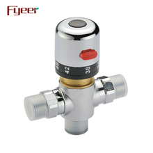 Fyeer Sanitary Ware DN15 Brass Water Temperature Control Valve Thermostatic Mixing Valve