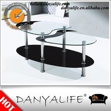 DYBY5 Danyalife New Double Layer Glass Coffee Table