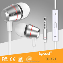 Free sample metal earphone ROHS headphone with stereo sound factory offer 3.5mm jack