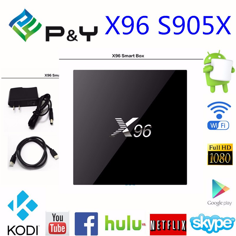 X96 Quad Core 4K Android 6.0 TV Box Amlogic S905X 64 Bits CPU Smart Google Android TV Box support OEM