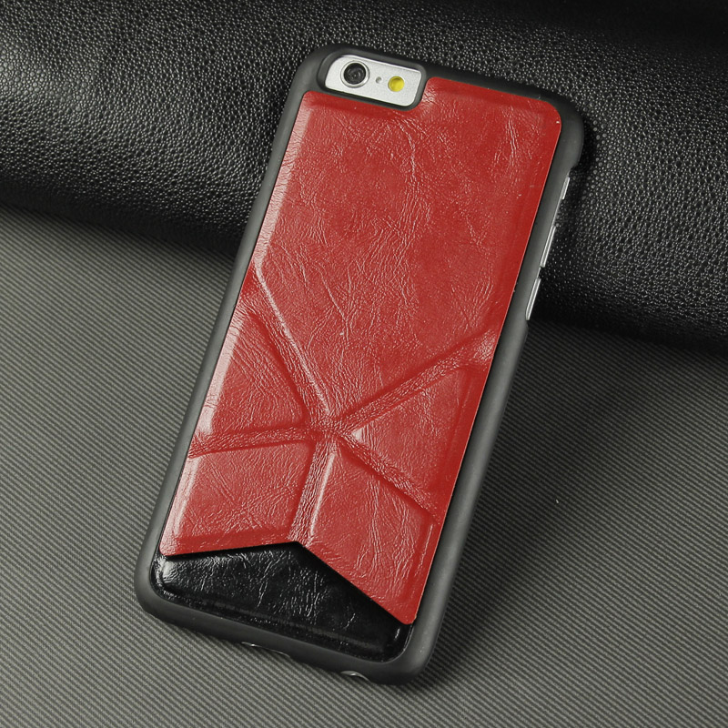 Factory manufacturer new design fancy leather cell phone case for iphone 6 X Shape case