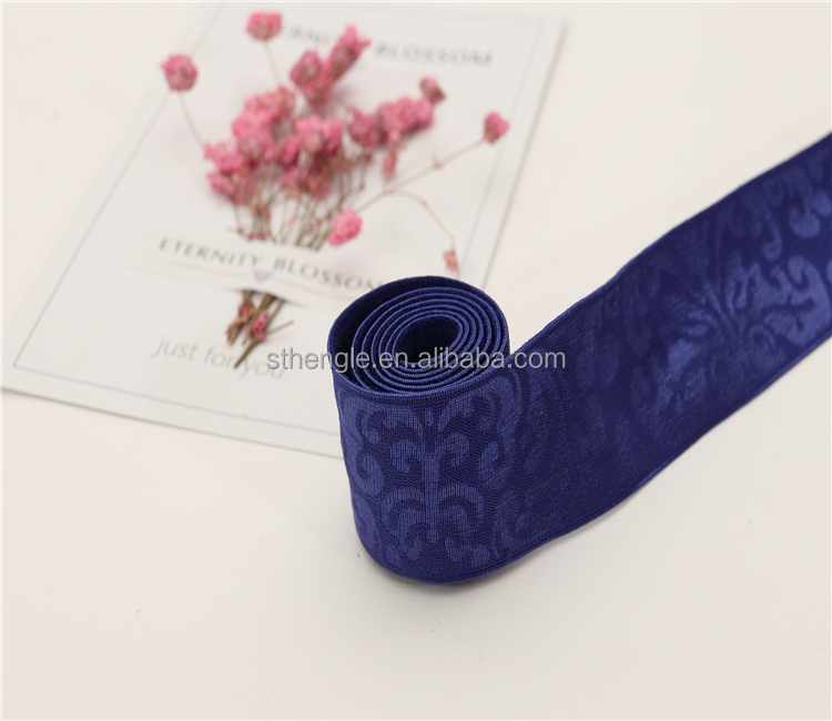 wide customized elastic silicone ribbons for underwear