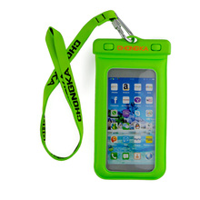 High quality eco-friendly pvc diving 20 meters 5.0inch cell phone waterproof case / Mobile phone waterproof bag