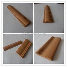 Hotel inside decorative wood moulding for corner, wooden look border line design HZS023