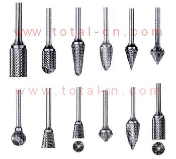 carbide Rotary burrs, stand cut rotary files, dental rotary burrs/files, carbide burrs, Aluminum cut carbide burrs, double cut