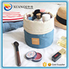 High Capacity Nylon Foldable Barrel Shaped Travel Cosmetic Bag