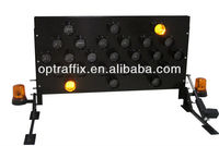 2 Top Quality Optraffic 25 Lamps Traffic Road Arrow Sign LED Directional Vehicle Mounted Flashing Arrow Board